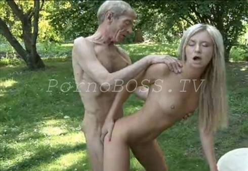 секс внучки и деда на даче видео